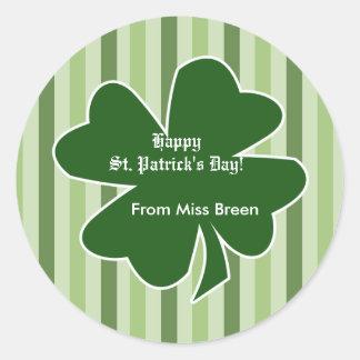 St. Patrick's Day Shamrock Address Labels Stickers
