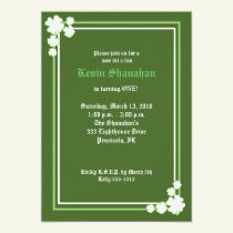 St. Patrick's Day Shamrock Birthday Invitation 5x7