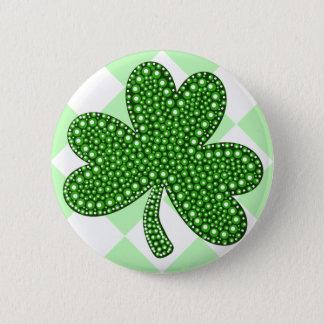 St Patricks Day Shamrock Classic Button