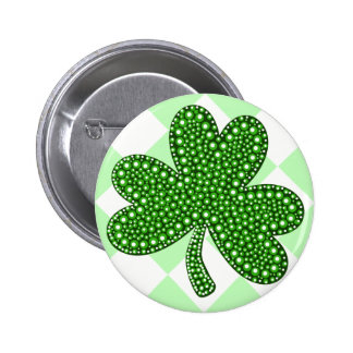 St Patricks Day Shamrock Classic Button