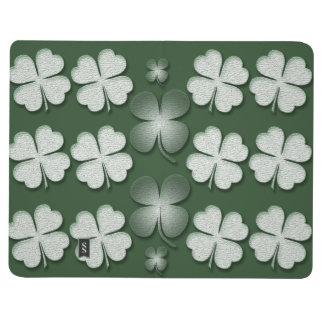 St Patricks Day shamrock clover pattern Journal
