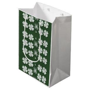 6e58e277 St Patricks Day shamrock clover pattern Medium Gift Bag