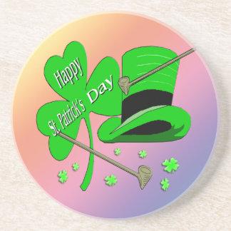 St Patrick's Day Shamrock Coaster