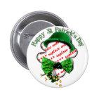 St Patrick's Day Shamrock Frame w/Adjustable Tie Button