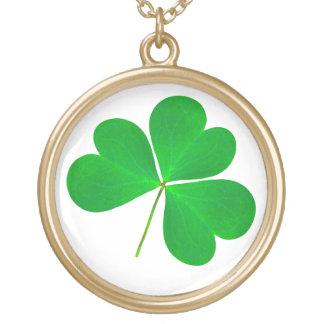 St. Patrick's Day Shamrock Gold Finished Necklace