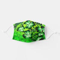 St. Patrick's Day Shamrock Green Clover Kids & Adult Cloth Face Mask