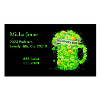St. Patrick's Day Shamrock Grog Double-Sided Standard Business Cards (Pack Of 100)