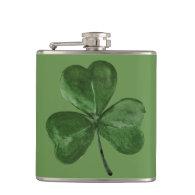 St. Patrick's Day Shamrock Hip Flasks
