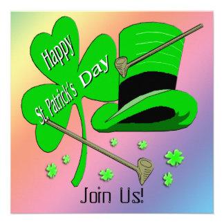 St Patrick's Day Shamrock Invitation