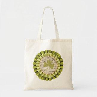 St. Patrick's Day Shamrock Leaf Tote Bag