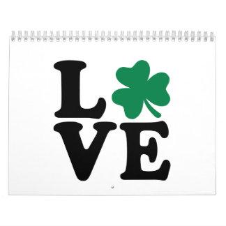 St. Patrick's day shamrock love Calendar
