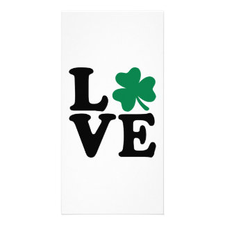 St. Patrick's day shamrock love Card