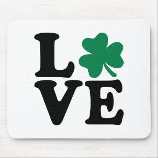 St. Patrick's day shamrock love Mouse Pad