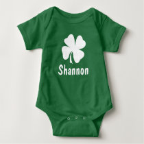St. Patrick's Day | Shamrock Name Baby Bodysuit