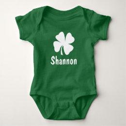 St. Patrick's Day | Shamrock Name Baby Bodysuit