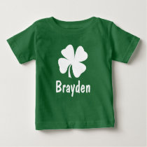 St. Patrick's Day | Shamrock Name Baby T-Shirt