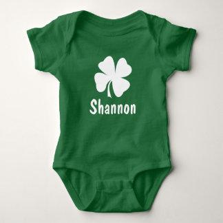 St. Patrick's Day   Shamrock Name Infant Creeper