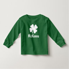 St. Patrick's Day | Shamrock Name Toddler T-shirt at Zazzle
