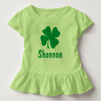 St. Patrick's Day | Shamrock Name Toddler T-shirt Personalized