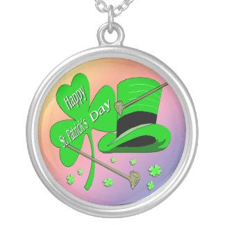 St Patrick's Day Shamrock Necklace
