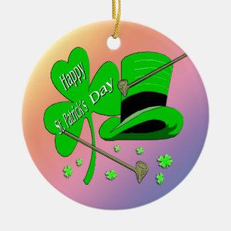 St Patrick's Day Shamrock Ornament