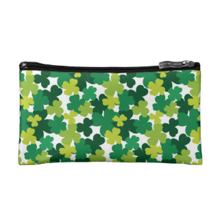 St. Patrick's Day Shamrock Pattern Cosmetic Bag