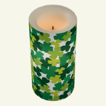 St. Patrick's Day Shamrock Pattern Flameless Candle