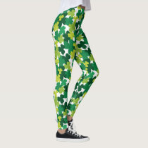 St. Patrick's Day Shamrock Pattern Leggings