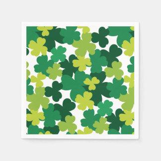 St. Patrick's Day Shamrock Pattern Napkin