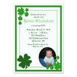 St. Patrick's Day Shamrock *PHOTO* Birthday 5x7 5x7 Paper Invitation Card
