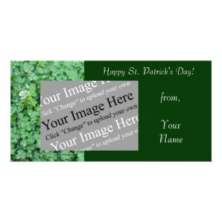 St. Patrick's Day Shamrock Photo Card Template