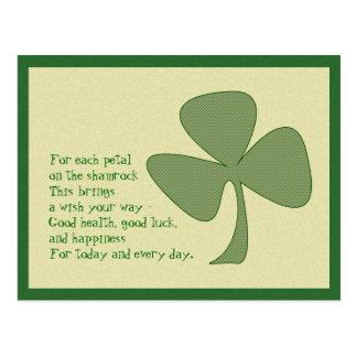 St. Patrick's Day Shamrock Postcard