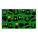 St Patricks Day Shamrock Pot of Gold Green Beer Business Card Template