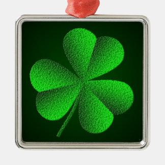 St Patrick's Day Shamrock Premium Square Ornament Christmas Tree Ornaments