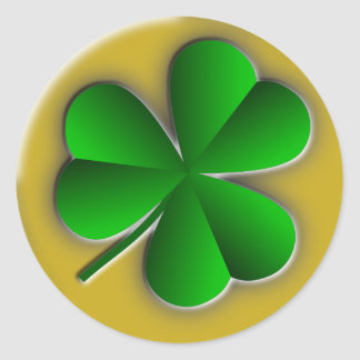 St Patricks Day Shamrock Round Stickers