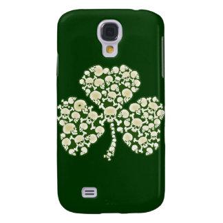 St Patricks Day Shamrock Skulls Galaxy S4 Cover