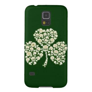 St Patricks Day Shamrock Skulls Galaxy S5 Case
