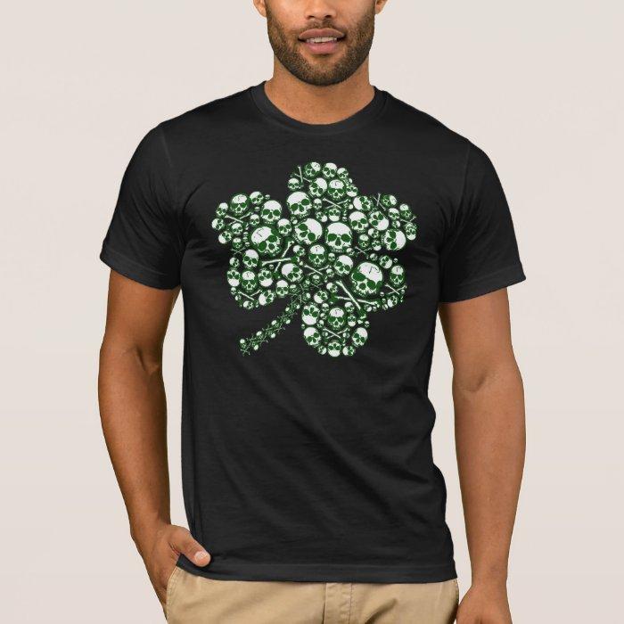St Patrick's Day Shamrock Skulls T-Shirt
