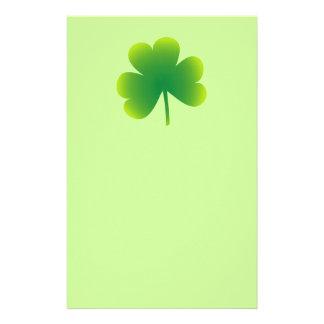 St. Patrick's Day Shamrock Stationery