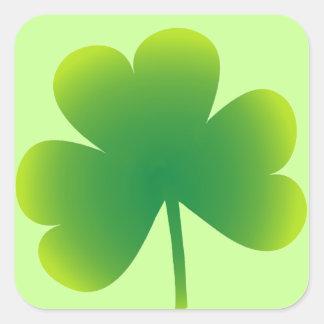 St. Patrick's Day Shamrock Square Sticker