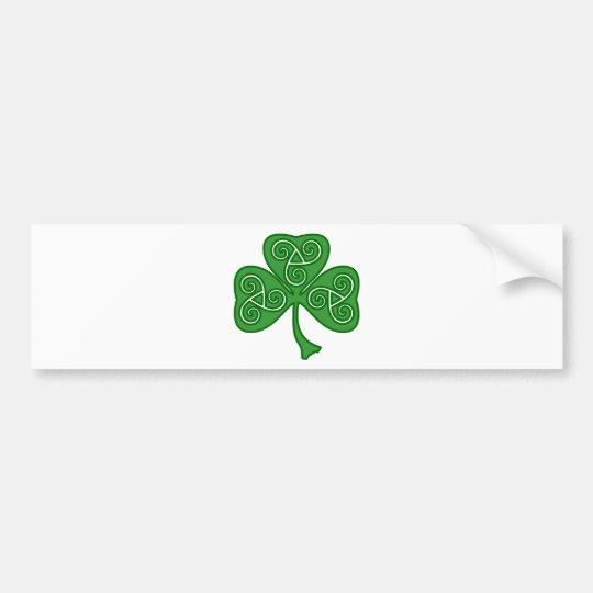 St Patrick's day shamrock with threefold decor Bumper Sticker