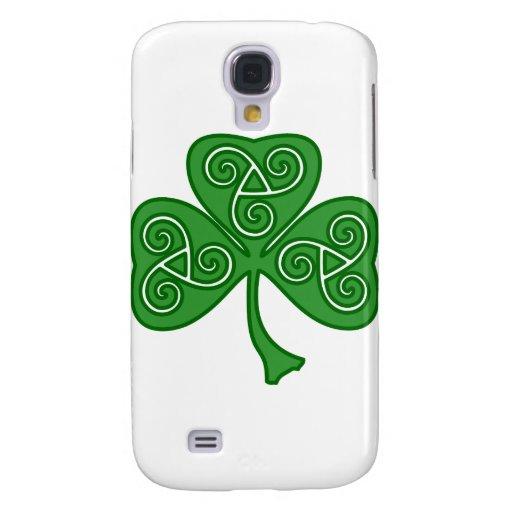St Patrick's day shamrock with threefold decor Galaxy S4 Cases
