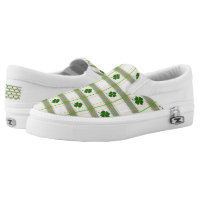St. Patrick's Day Shamrock Zipz Interchangeable Slip-On Sneakers