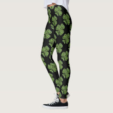 St. Patrick's Day | Shamrocks Celtic Knots Pattern Leggings at Zazzle