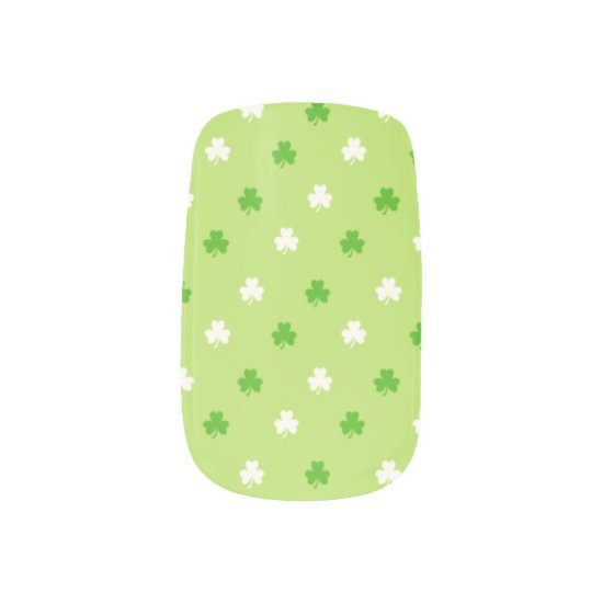St Patricks Day Shamrocks Fingernail Decals