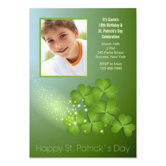 St. Patrick's Day Shamrocks Invitation