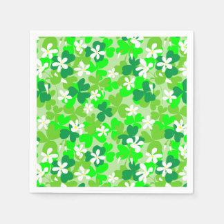 St Patrick's Day Shamrocks Paper Napkin