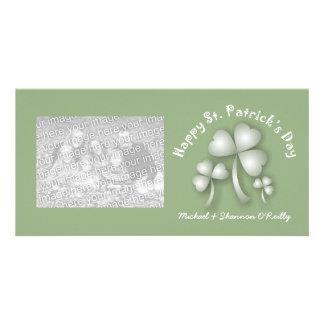 St Patrick's Day Shamrocks Photo Cards
