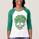 St Patricks Day Shamrocks Skull T-Shirt