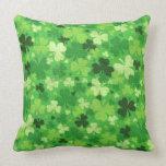 St. Patrick's Day Shamrocks Throw Pillow